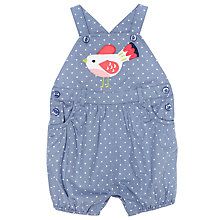 Buy John Lewis Baby Bird Spot Dungarees, Blue Online at johnlewis.com