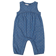 Buy John Lewis Baby Spot Dungarees, Blue Online at johnlewis.com