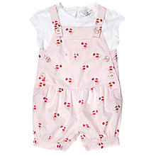 Buy John Lewis Baby Bird Bibshort and Top Set, Pink Online at johnlewis.com