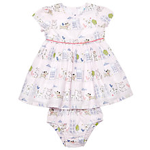 Buy John Lewis Baby Dog Print Dress and Knickers Set, Cream Online at johnlewis.com