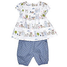 Buy John Lewis Baby Dog Top and Spot Bloomers Set, Blue Online at johnlewis.com