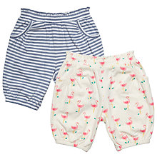 Buy John Lewis Baby Stripe and Flamingo Shorts, Pack of 2, Multi Online at johnlewis.com