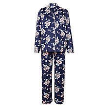 Buy John Lewis Garden Rose Floral Pyjama Set, Navy Online at johnlewis.com