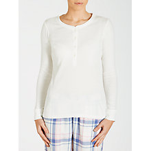 Buy John Lewis Rib Long Sleeve Henley Top Online at johnlewis.com