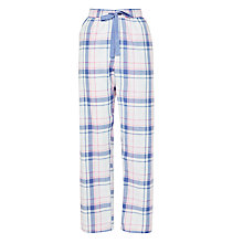 Buy John Lewis Soft Check Pyjama Pants, Pink/Ivory Online at johnlewis.com