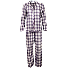 Buy Cyberjammies Heart Dobby Check Pyjama Set, Grey Online at johnlewis.com
