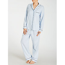 Buy John Lewis Chambray Pyjama Set, Light Blue Online at johnlewis.com