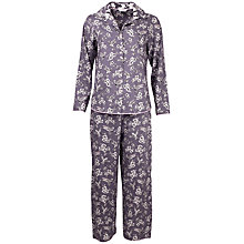 Buy Cyberjammies Bird Print Pyjama Set, Grey Online at johnlewis.com