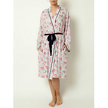 Buy Cyberjammies Peony Delight Robe, Pink/Navy Online at johnlewis.com