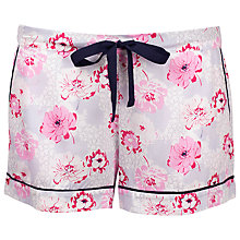 Buy Cyberjammies Peony Delight Pyjama Shorts, Pink/Navy Online at johnlewis.com