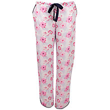 Buy Cyberjammies Peony Delight Pyjama Pants, Pink/Navy Online at johnlewis.com