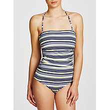 Buy John Lewis St Ives Bandeau Swimsuit, Navy/White Online at johnlewis.com