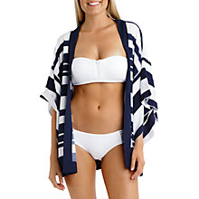 Buy Seafolly Block Party Borneo Kimono, Indigo/White Online at johnlewis.com