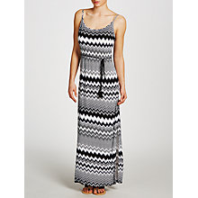 Buy John Lewis Zig Zag Jersey Maxi Dress, Black/White Online at johnlewis.com
