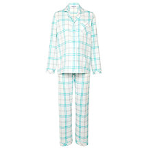 Buy John Lewis Check Pyjama Set, Aqua Online at johnlewis.com
