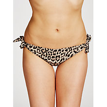 Buy John Lewis Brushed Leopard Tie Briefs, Multi Online at johnlewis.com