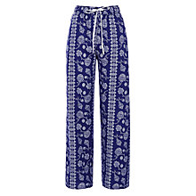 Buy John Lewis Pomegranate Pyjama Pants, Navy/Ivory Online at johnlewis.com