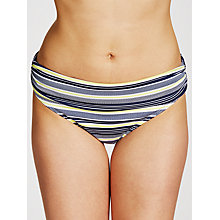 Buy John Lewis St Ives Stripe Fold Bikini Briefs, Navy/White Online at johnlewis.com