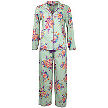 Buy Cyberjammies Waterlily Print Pyjama Set, Aqua Online at johnlewis.com