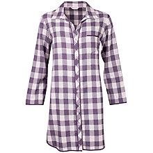 Buy Cyberjammies Heart Dobby Check Nightshirt, Grey Online at johnlewis.com