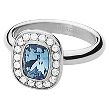 Buy Dyrberg/Kern Swarovski Crystal Element Ring, Silver/Blue Online at johnlewis.com