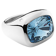 Buy Dyrberg/Kern Swarovski Elements Cocktail Ring, Silver/Blue Online at johnlewis.com