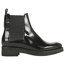 Buy Whistles Bao Ruched Crepe Chelsea Boot, Black Leather Online at johnlewis.com