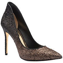 Buy Ted Baker Kimkee High Heeled Stiletto Court Shoes, Black/Gold Online at johnlewis.com