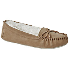 Buy Ted Baker Koizu Suede Bow Slippers, Light Tan Online at johnlewis.com