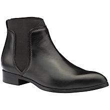 Buy Ted Baker Maki Pointed Toe Chelsea Boot, Black Leather Online at johnlewis.com