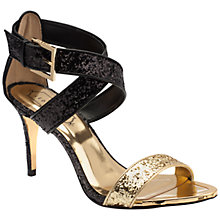 Buy Ted Baker Kahura Cross Over Strap Sandals, Black Leather Online at johnlewis.com