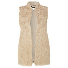 Buy Whistles Faux Fur Gilet, Beige Online at johnlewis.com