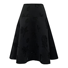 Buy Whistles Edie Full Skirt, Black Online at johnlewis.com