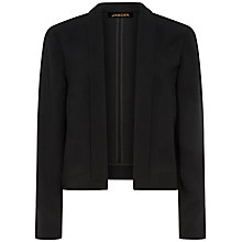 Buy Jaeger Crepe Cropped Jacket, Black Online at johnlewis.com
