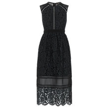 Buy Whistles Aurelie Lace Dress, Black Online at johnlewis.com
