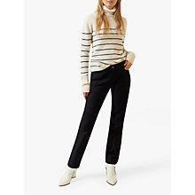 Buy Jigsaw Bi Stretch Jean, Black Online at johnlewis.com