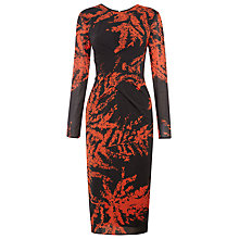 Buy Whistles Phoebe Fern Bodycon Dress, Black/Multi Online at johnlewis.com
