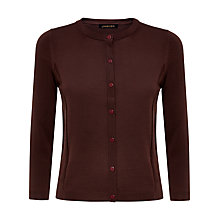 Buy Jaeger Gostwyck Detail Cardigan, Chocolate Online at johnlewis.com