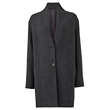 Buy Jigsaw Waffle Weave Boucle Coat, Charcoal Online at johnlewis.com