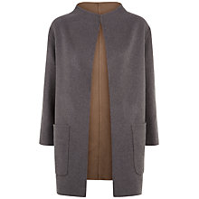 Buy Jaeger Double-Faced Reversible Wool Coat, Dark Grey Online at johnlewis.com