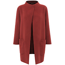 Buy Jaeger Double-Faced Wool Duster Coat, Dark Rose Online at johnlewis.com