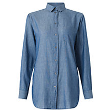 Buy Jigsaw Chambray Shirt, Blue Online at johnlewis.com
