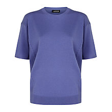 Buy Jaeger Gostwyck Wool Top, Dusky Lilac Online at johnlewis.com