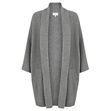 Buy Jigsaw Merino Ottoman Cardigan, Mid Grey Online at johnlewis.com