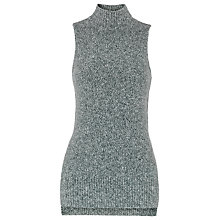 Buy Whistles High Neck Knit, Grey Online at johnlewis.com