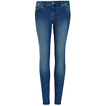 Buy Ted Baker Shenzii Raw Hem Skinny Jeans, Mid Wash Online at johnlewis.com