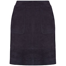 Buy Jaeger Suede Patch Pocket Skirt, Midnight Online at johnlewis.com