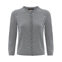 Buy Jaeger Gostwyck Seam Detail Cardigan, Grey Online at johnlewis.com