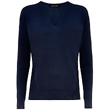 Buy Jaeger Gostwyck Wool Oversized Jumper, Navy Online at johnlewis.com