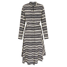 Buy Whistles Ikat Silk Drape Shirt Dress, Multi Online at johnlewis.com